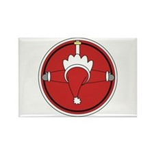 Santa Claus Top Rectangle Magnet (10 pack)