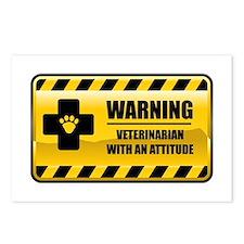 Warning Veterinarian Postcards (Package of 8)