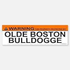 OLDE BOSTON BULLDOGGE Bumper Bumper Bumper Sticker
