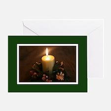 Christmas Candle Greeting Card
