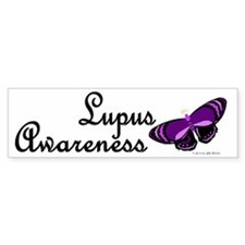Butterfly Awareness 4 (Lupus) Bumper Car Sticker