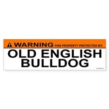 OLD ENGLISH BULLDOG Bumper Bumper Sticker