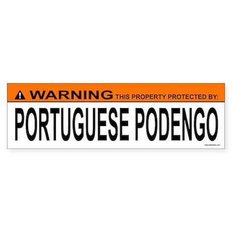 PORTUGUESE PODENGO Bumper Sticker