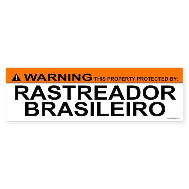 RASTREADOR BRASILEIRO Bumper Bumper Sticker by stickdeez