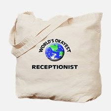 World's Okayest Receptionist Tote Bag