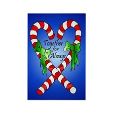 Together for Always Christmas Rectangle Magnet