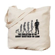 Evolution - My Army Bro-n-Law Tote Bag