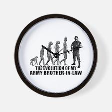 Evolution - My Army Bro-n-Law Wall Clock