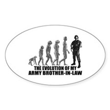 Evolution - My Army Bro-n-Law Oval Decal