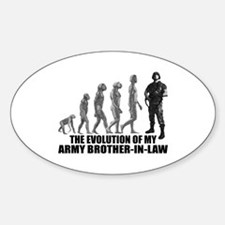 Evolution - My Army Bro-n-Law Oval Decal