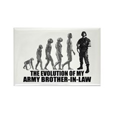 Evolution - My Army Bro-n-Law Rectangle Magnet