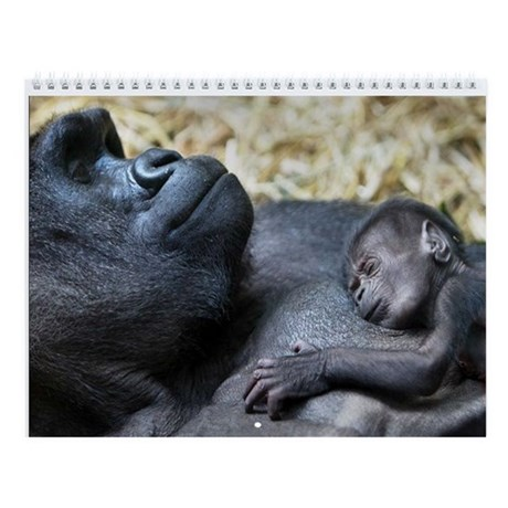 Mom and me Primates Wall Calendar