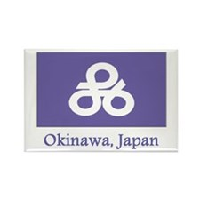 Okinawa JP Flag Rectangle Magnet