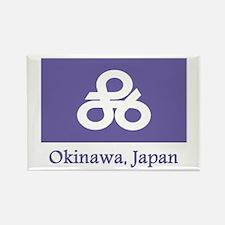 Okinawa JP Flag Rectangle Magnet