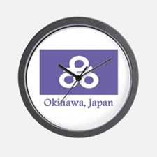 Okinawa JP Flag Wall Clock