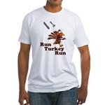 Run Turkey Run Thanksgiving Fitted T-Shirt