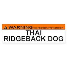 THAI RIDGEBACK DOG Bumper Bumper Sticker