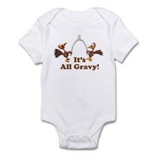 Wishbone It's All Gravy Thanksgiving Infant Bodysu
