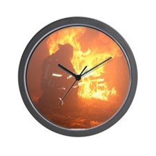 Cute Firefighter Wall Clock