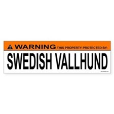 SWEDISH VALLHUND Bumper Bumper Bumper Sticker