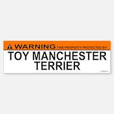 TOY MANCHESTER TERRIER Bumper Bumper Bumper Sticker