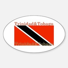 Trinidad & Tobago Flag Oval Decal