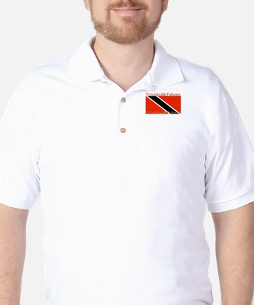 Trinidad & Tobago Flag Golf Shirt