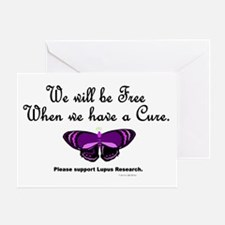 Butterfly Awareness 5 (Lupus) Greeting Card