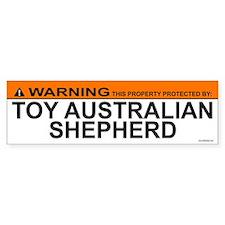 TOY AUSTRALIAN SHEPHERD Bumper Car Sticker