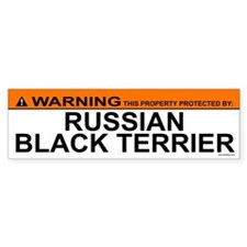 RUSSIAN BLACK TERRIER Bumper Bumper Sticker