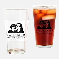 TwoSisters_LOGO_smbkgrnd.jpg Drinking Glass