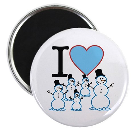 I Love Snowmen Magnet