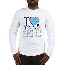 I Love Snowmen Long Sleeve T-Shirt