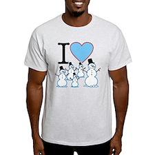 I Love Snowmen T-Shirt