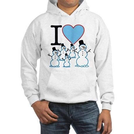 I Love Snowmen Hooded Sweatshirt
