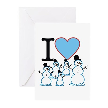 I Love Snowmen Greeting Cards (Pk of 10)