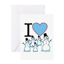 I Love Snowmen Greeting Card
