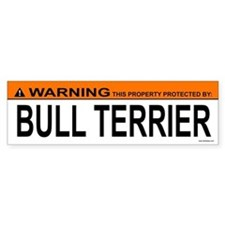BULL TERRIER Bumper Car Sticker