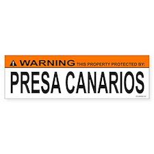 PRESA CANARIOS Bumper Bumper Sticker