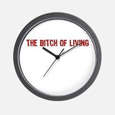 The Bitch of Living Wall Clock