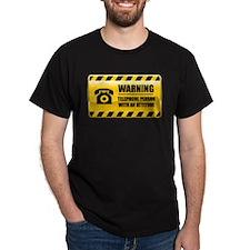 Warning Telephone Person T-Shirt