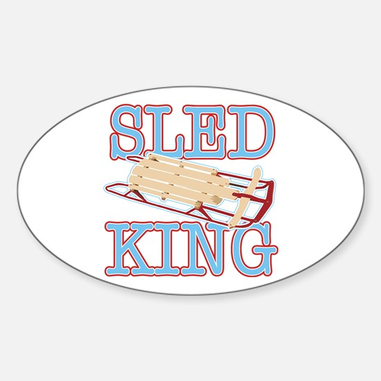 Sled King Oval Bumper Stickers