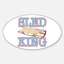 Sled King Oval Decal