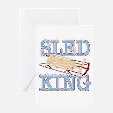 Sled King Greeting Card