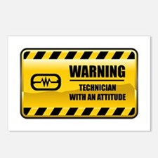 Warning Technician Postcards (Package of 8)