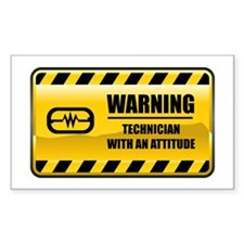 Warning Technician Rectangle Decal