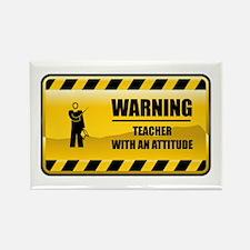 Warning Teacher Rectangle Magnet