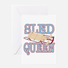 Sled Queen Greeting Card
