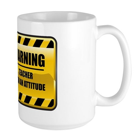 Warning Teacher Large Mug