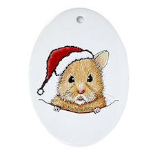 Pocket Goldendoodle Oval Ornament